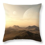 Planet Rise Throw Pillow