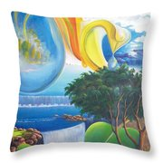 Planet Water - Leomariano Throw Pillow