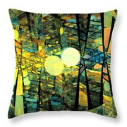 Planetary Ellipses Throw Pillow