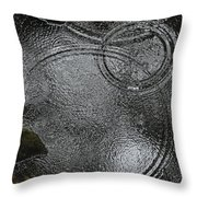 Planetary Intersection In A Puddle Throw Pillow