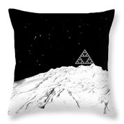 Planetary Mountain Throw Pillow by GuoJun Pan