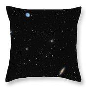 Planetary Nebula Messier 97 Owl Nebula And Galaxy Messier 108 In Constellation Ursa Major Throw Pillow