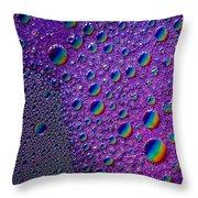 Planetary Rainbow Drop Alignment Throw Pillow