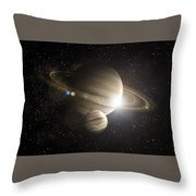 Planetary Ring Throw Pillow