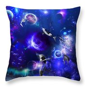 Planetary Sea Throw Pillow