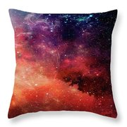 Planetary Soul Violet Throw Pillow