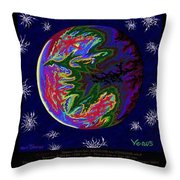 Planets 1 2 3 - Science Throw Pillow
