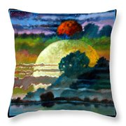 Planets Image One Throw Pillow