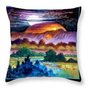Planets Image Three Throw Pillow