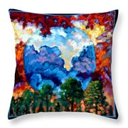 Planets Image Two Throw Pillow