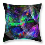 Planets Of Vega Throw Pillow