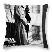 Plans Held  Throw Pillow
