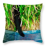 Bushwhacking In A Tux Throw Pillow