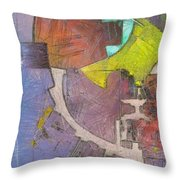 Plantacoloreada Throw Pillow