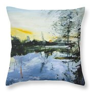 Planten Un Blomen Throw Pillow