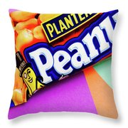 Planters Peanuts Candy Throw Pillow