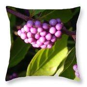 Planting Fields Purple Throw Pillow