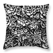Plants Of Black And White Throw Pillow