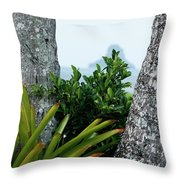 Plantside The Island Throw Pillow