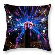 Plasma Sphere Throw Pillow
