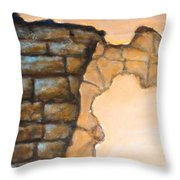 Plaster It Throw Pillow