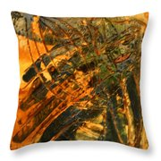 Plastered - Tile Throw Pillow