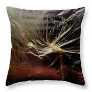 Plastic Bag 01 Throw Pillow by Grebo Gray