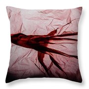 Plastic Bag 06 Throw Pillow by Grebo Gray