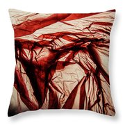 Plastic Bag 09 Throw Pillow by Grebo Gray