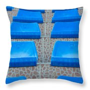 Plastic Sits Throw Pillow