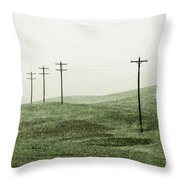 Plasticine Fields Throw Pillow