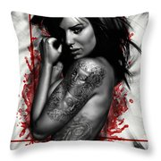 Plata O Plomo Throw Pillow by Pete Tapang