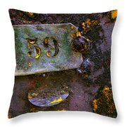 Plate 59 Throw Pillow by Carlos Caetano