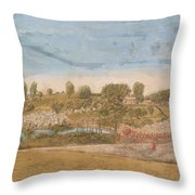 Plate IIi The Engagement At The North Bridge In Concord 1775 Throw Pillow