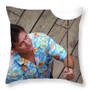 Plate Juggler 6689 Throw Pillow
