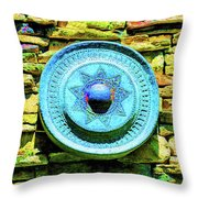 Plate Of Stone Throw Pillow