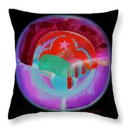 Plate State Red Throw Pillow