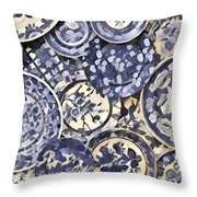 Plates Party 1 Throw Pillow
