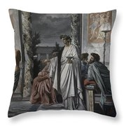 Plato's Symposium Throw Pillow
