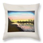 Platte River Sunrise Throw Pillow