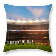Play Ball Quote Throw Pillow