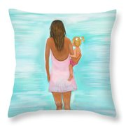 Play Day With Mommy Throw Pillow