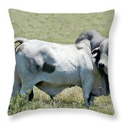 Play Dead Blue Throw Pillow