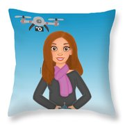 Play Drone Throw Pillow