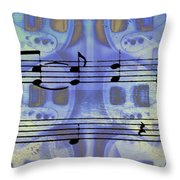 Play That Rock And Roll Throw Pillow