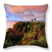 Play Time In Paradise Throw Pillow