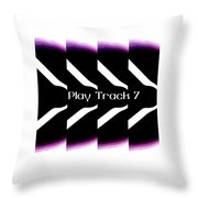 Play Track 7 Throw Pillow