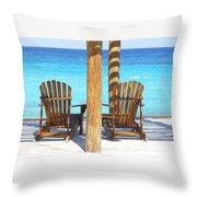 Playa Azul 2 Throw Pillow