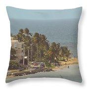 Playa Azul I Throw Pillow