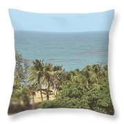 Playa Azul 3 Throw Pillow